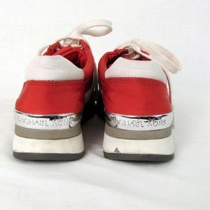 Michael Kors Shoes - Michael Kors Red/Orange Tennis Shoes 5.5